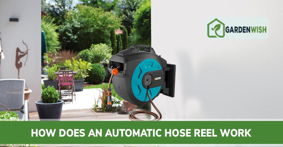 How does an automatic hose reel work