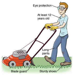Safety tips of lawn mower