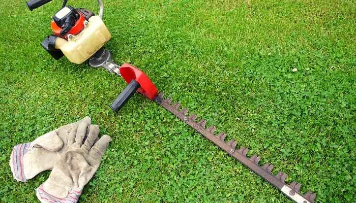 hedge trimmer for shaping hedge